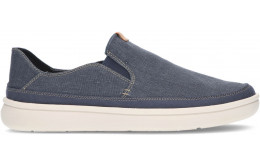 CLARKS CANTAL STEP MOCCASINS NAVY