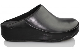 FITFLOP comfortable leather clogs NEGRO