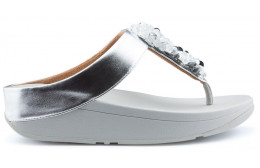 FITFLOP SEQUIN TOE THONGS Sandals SILVER