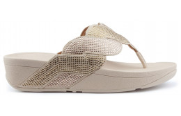 FITFLOP PAISLEY ROPE TOE THONGS Sandals PLATINO