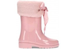 PATENT LEATHER WATER BOOTS SOFT W10239 ROSA